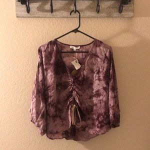 Honey Punch Tye Dye Top NWT